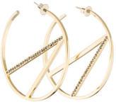 Paige Novick Crystal Scarlett Hoop Earrings