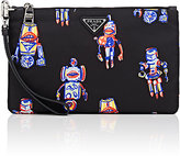 Prada Men's Robot-Print Small Pouch