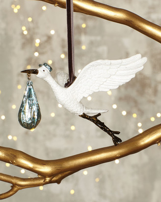 Michael Aram Blue Stork Ornament
