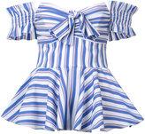 Caroline Constas striped blouse - women - Cotton/Nylon/Spandex/Elastane - XS