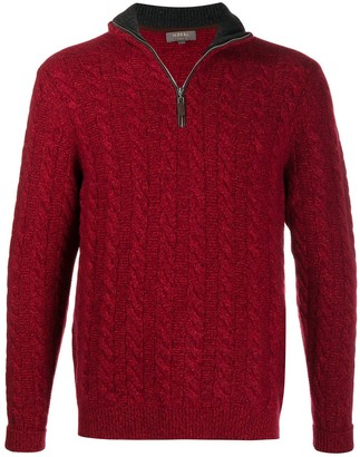 N.Peal Cable-Knit Zipped Jumper