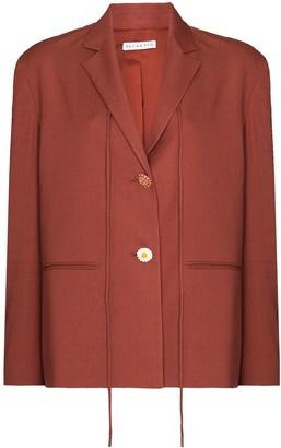 REJINA PYO Tie-Fastening Detail Single-Breasted Blazer