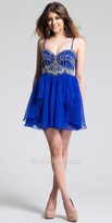 Dave and Johnny Beaded Chiffon Homecoming Dress