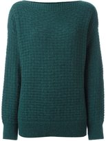 Closed basket knit jumper - women - Nylon/Wool/Alpaca - L