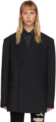 Raf Simons Black Sharp Lapel Blazer