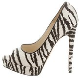 Brian Atwood Striped Canvas Pumps