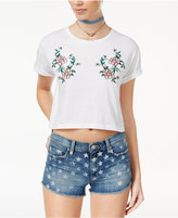 Polly & Esther Juniors' Embroidered Cropped T-Shirt