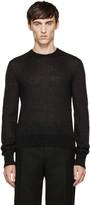 Calvin Klein Collection Black Mohair Sweater