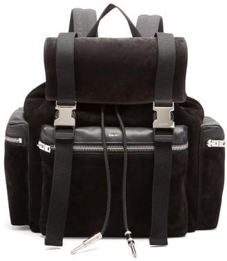 Amiri Canvas-trimmed Suede Backpack - Black