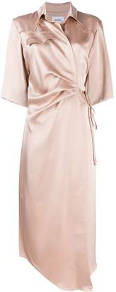 Nanushka Lais draped front satin dress
