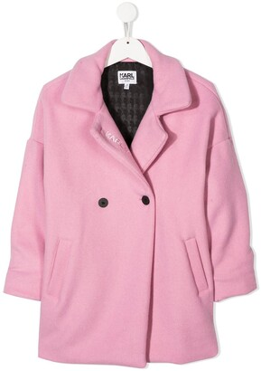 Karl Lagerfeld Paris Double-Breasted Coat