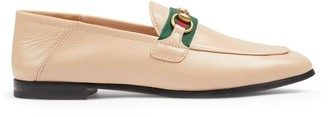 Gucci Women's Leather Loafers with Web
