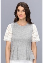 Rebecca Taylor S/S Lace & Tweed Top