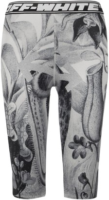 Off-White Botanical Printed Bike Shorts