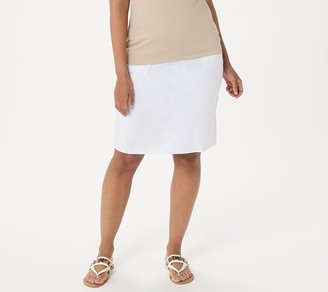 Susan Graver Weekend Premium Stretch Skirt with Pockets