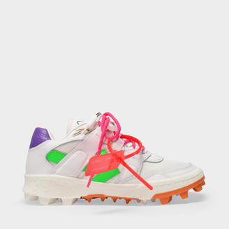 Off-White Mountain Cleats Sneakers In White Leather