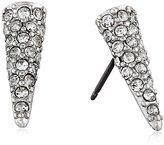 Sam Edelman Rhodium Pave Spike Stud Earrings