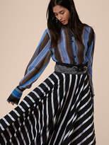 Diane von Furstenberg Wide Sleeve Button-Up Blouse