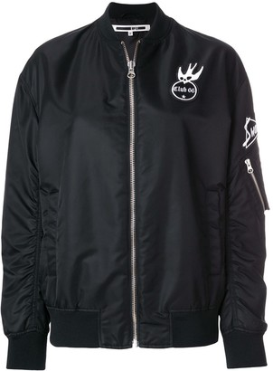 McQ Swallow Patch Detail Bomber Jacket