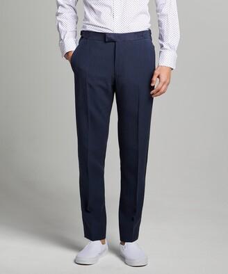 Todd Snyder Black Label Sutton Tuxedo Pant in Navy Italian Linen