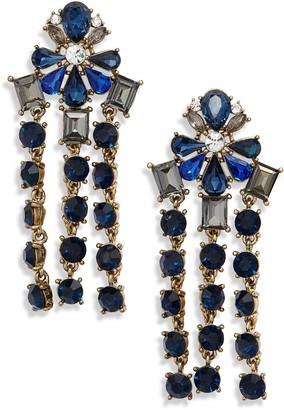 Stella + Ruby Crystal Fringe Drop Earrings