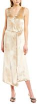 Vince Velvet Silk-Blend Wrap Dress