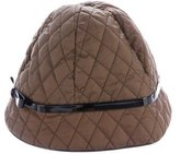 Armani Collezioni Quilted Bow-Accented Hat