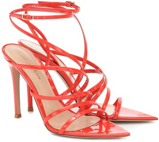 Gianvito Rossi Eclypse 105 patent-leather sandals