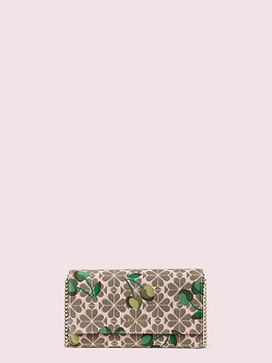 Kate Spade Spade Flower Jacquard Cherry Chain Clutch