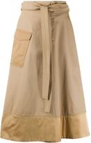Pinko tie-waist A-line skirt