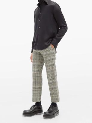 Edward Crutchley Checked Straight-leg Wool Trousers - Grey Multi