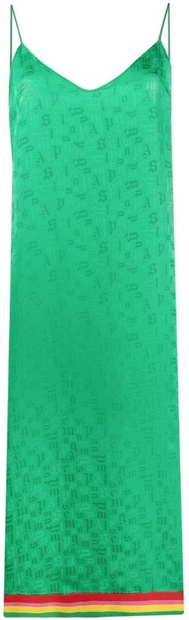Thumbnail for your product : Palm Angels Logo-Print Shift Dress