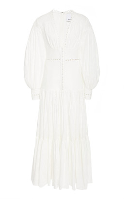 Acler Hender Cotton-Eyelet Maxi Dress