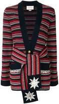 Gucci stripe bouclé belted jacket