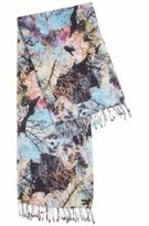 HUGO BOSS Lightweight scarf in cotton and modal