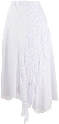 Zucca Asymmetric Midi Skirt