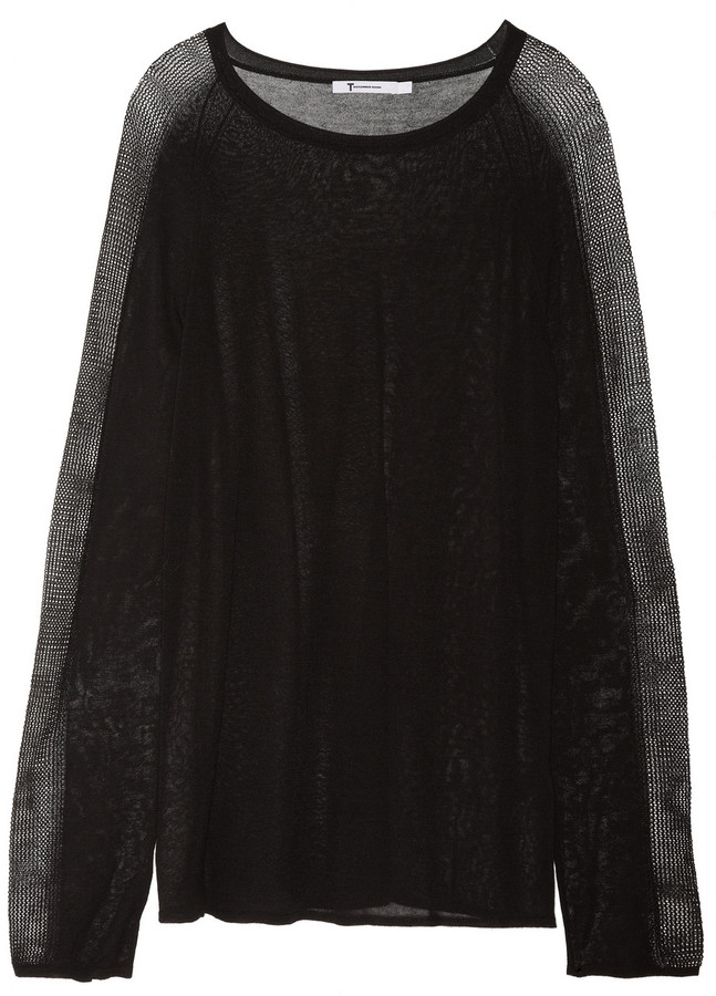 Alexander Wang Pointelle-detailed knitted sweater