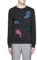 Paul Smith Paisley patch sweatshirt