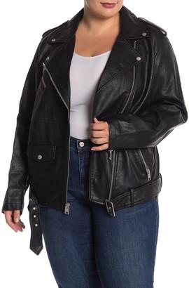 Levi's Oversize Faux Leather Moto Jacket (Plus Size)