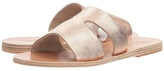 Ancient Greek Sandals Apteros (Black Vachetta) Women's Sandals