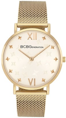 BCBGeneration Women's Goldtone Mesh Strap Watch