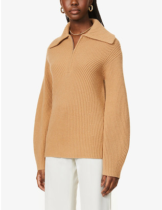 Theory V-neck wool-cashmere blend jumper