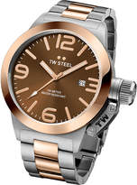 Tw Steel Cb151 Canteen Rose Gold Pvd-plated And Stainless Steel Watch