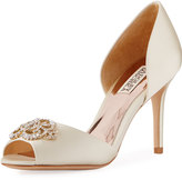 Badgley Mischka Salsa Crystal d'Orsay Pump, Ivory