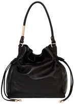 Foley + Corinna Faye Leather Large Drawstring Hobo