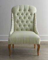 "Mackenzie Childs MacKenzie-Childs Parchment Check ""Underpinnings"" Dining Chair"