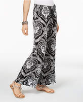 INC International Concepts I.n.c. Petite Printed Wide-Leg Pants, Created for Macy's