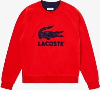 Lacoste Womens Printed Fleece Sweatshirt