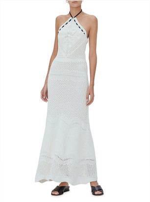 Alexis Ibada Halter-Neck Maxi Crochet Dress