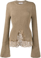 Givenchy knitted lace hem jumper - women - Cotton/Polyamide/Viscose/Wool - S